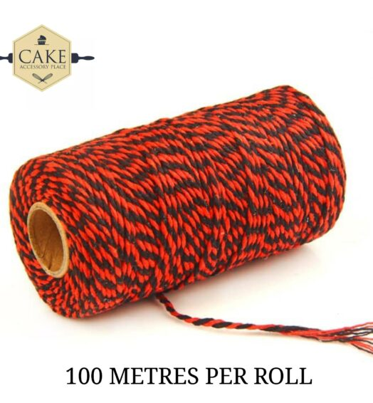 Bakers Twine – Red And Black