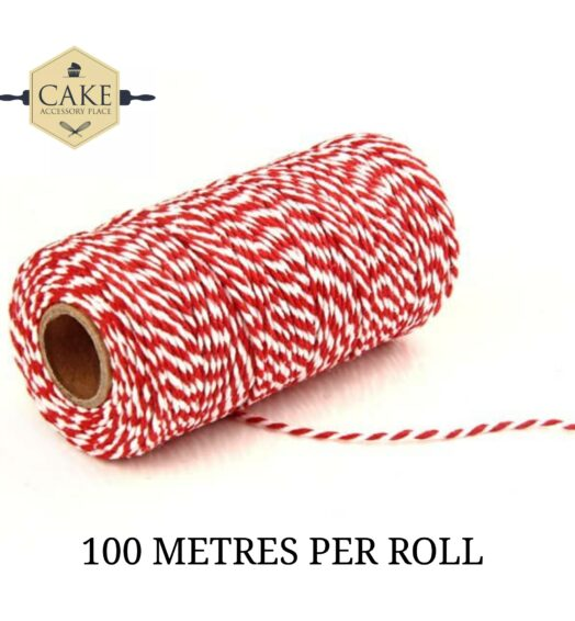 Bakers Twine – Red And White