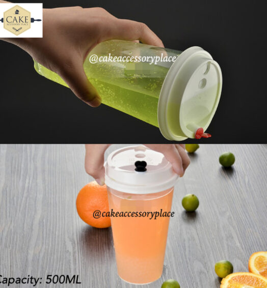 500ml Cups With White Lids – 25pcs