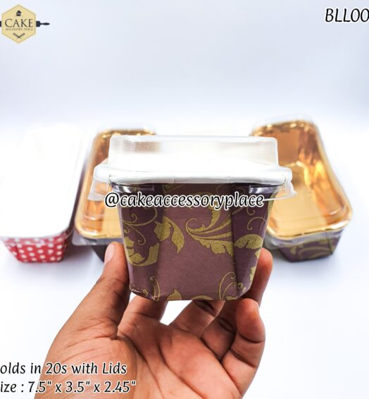 Brown Pattern Loaf Pack with Lids – 20pcs