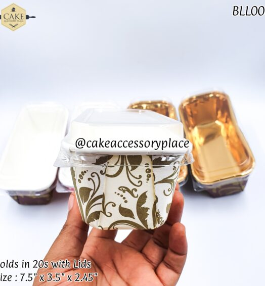 White Pattern Loaf Pack with Lids – 20pcs