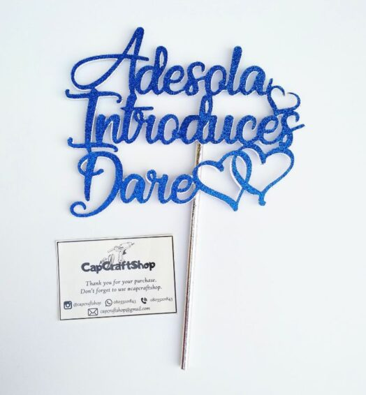 Introduction Cake Toppers