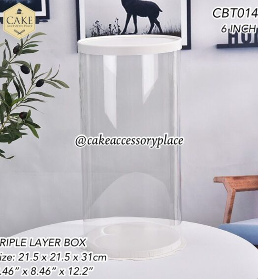 Clear Round Tall Box – 6 Inches