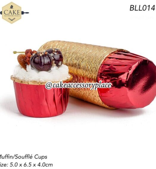 Red Golden Muffin Cups – 50pcs