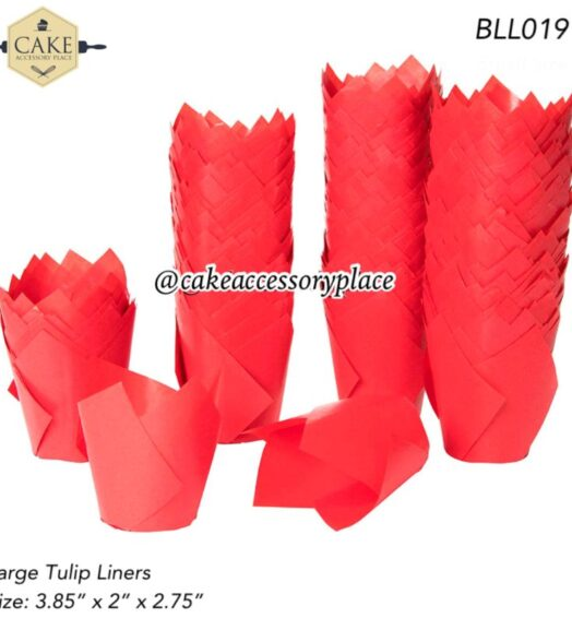 Red Tulip Liners – 50pcs
