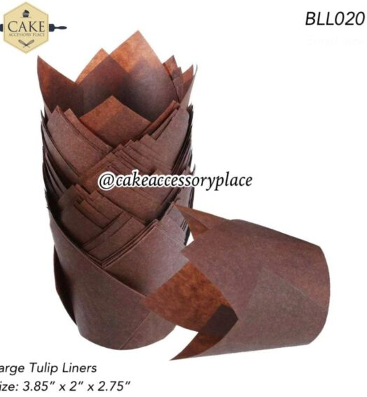 Coffee Brown Tulip Liners – 50pcs