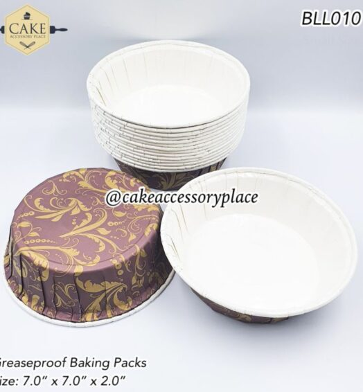 Round Brown Greaseproof Pans -10pcs