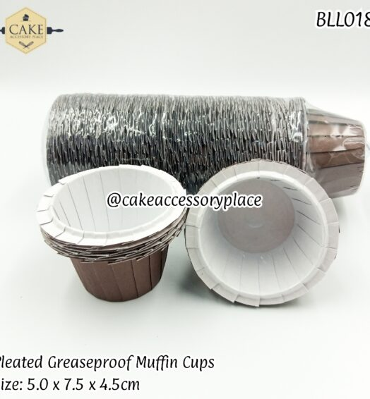 Coffee Brown Pleated Muffin Liners – 100pcs