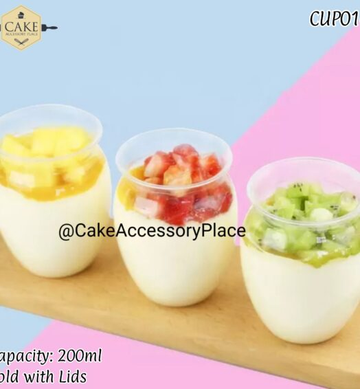 200ml Cups with Lids – 20pcs