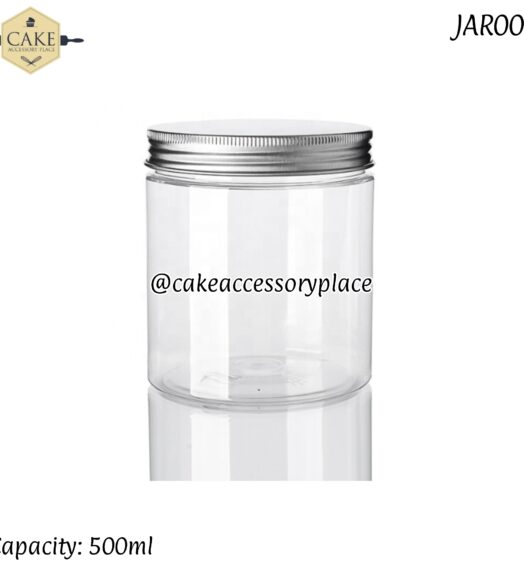 500ml Short Jars with Silver Lids