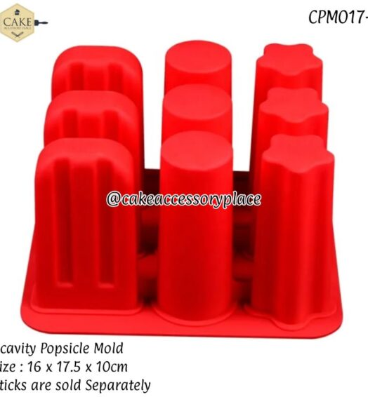 9 Cavity  Popsicle Mold ( 3 shapes)