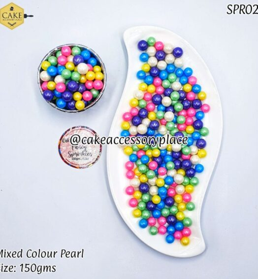 Mixed Colour Pearls – 150gms